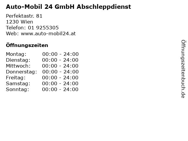 Auto-Mobil 24 GmbH Abschleppdienst in Wien: Adresse und Öffnungszeiten