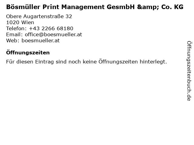 Bösmüller Print Management GesmbH & Co. KG in Wien: Adresse und Öffnungszeiten
