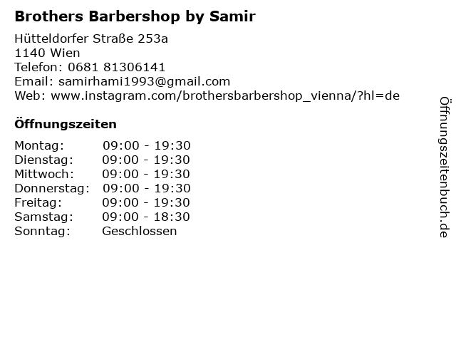 Brothers Barbershop by Samir & Imad in Wien: Adresse und Öffnungszeiten