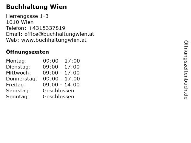 Buchhaltung Wien in Wien: Adresse und Öffnungszeiten