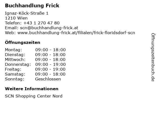 Buchhandlung Frick in Wien: Adresse und Öffnungszeiten