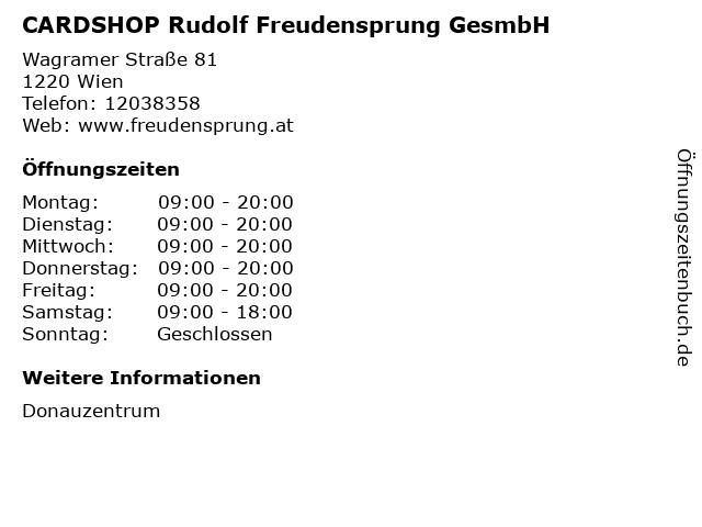 CARDSHOP Rudolf Freudensprung GesmbH in Wien: Adresse und Öffnungszeiten