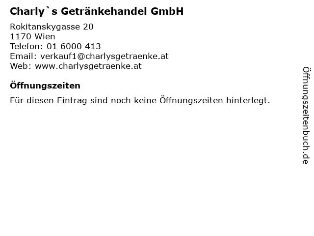 Charly`s Getränkehandel GmbH in Wien: Adresse und Öffnungszeiten