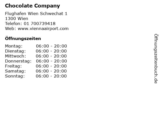 Chocolate Company in Wien: Adresse und Öffnungszeiten