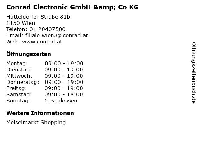 Conrad Electronic GmbH & Co KG in Wien: Adresse und Öffnungszeiten