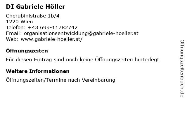 DI Gabriele Höller in Wien: Adresse und Öffnungszeiten