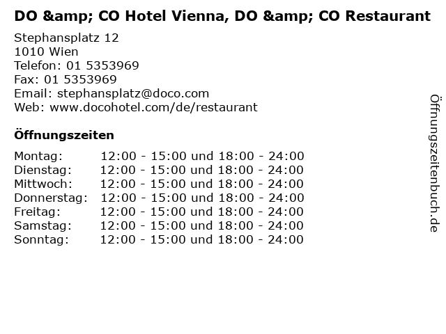 DO & CO Hotel Vienna, DO & CO Restaurant in Wien: Adresse und Öffnungszeiten