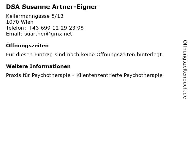 DSA Susanne Artner-Eigner in Wien: Adresse und Öffnungszeiten