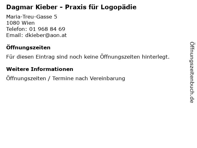 Dagmar Kieber - Praxis für Logopädie in Wien: Adresse und Öffnungszeiten
