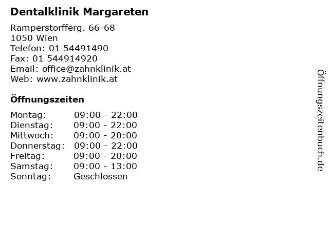 Dentalklinik Margareten in Wien: Adresse und Öffnungszeiten