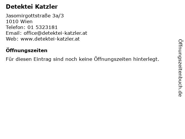Detektei Katzler in Wien: Adresse und Öffnungszeiten