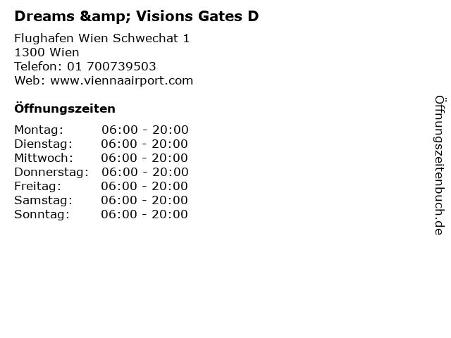 Dreams & Visions Gates D in Wien: Adresse und Öffnungszeiten