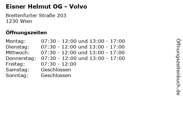 Eisner Helmut OG - Volvo in Wien: Adresse und Öffnungszeiten