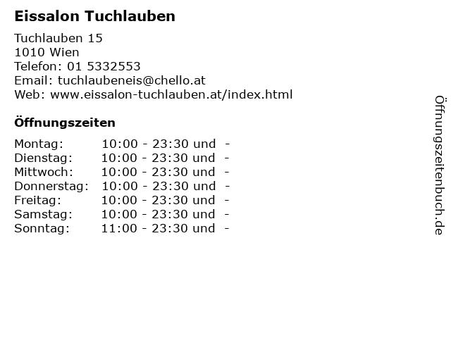 ᐅ öffnungszeiten Eissalon Tuchlauben Tuchlauben 15 In Wien