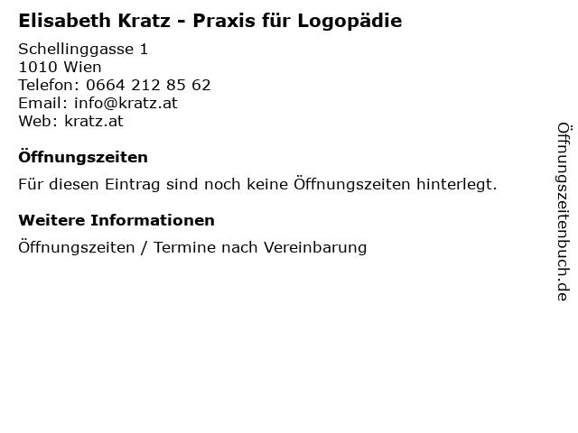 Elisabeth Kratz - Praxis für Logopädie in Wien: Adresse und Öffnungszeiten