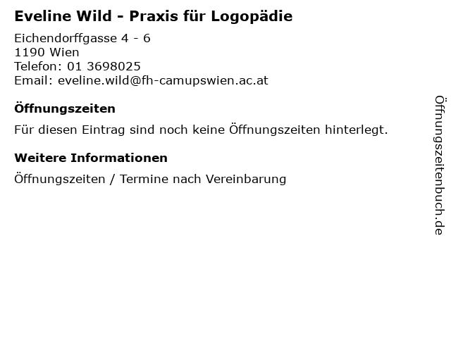 Eveline Wild - Praxis für Logopädie in Wien: Adresse und Öffnungszeiten