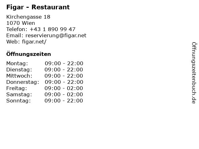Figar - Asia-Restaurant in Wien: Adresse und Öffnungszeiten