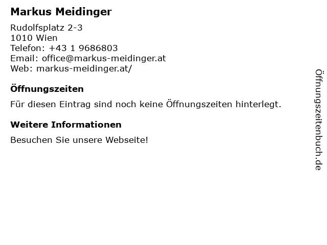 Friseur Markus Meidinger in Wien: Adresse und Öffnungszeiten