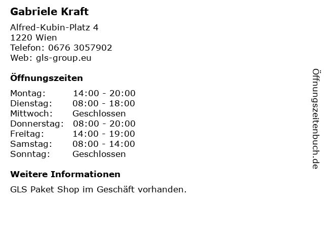 Gabriele Kraft in Wien: Adresse und Öffnungszeiten