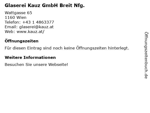 Glaserei Karl Kauz (Juli & August) in Wien: Adresse und Öffnungszeiten
