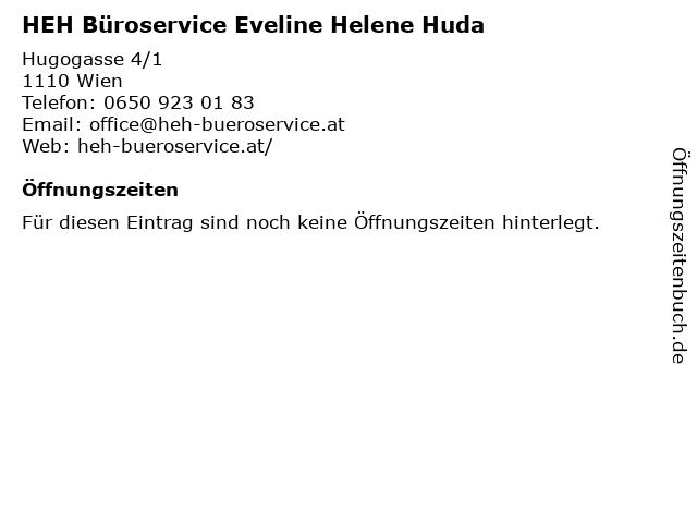 HEH Büroservice Eveline Helene Huda in Wien: Adresse und Öffnungszeiten