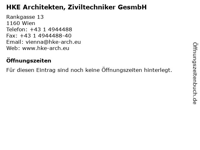 HKE Architekten, Ziviltechniker GesmbH in Wien: Adresse und Öffnungszeiten