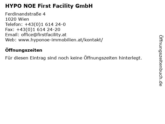 HYPO NOE First Facility GmbH in Wien: Adresse und Öffnungszeiten