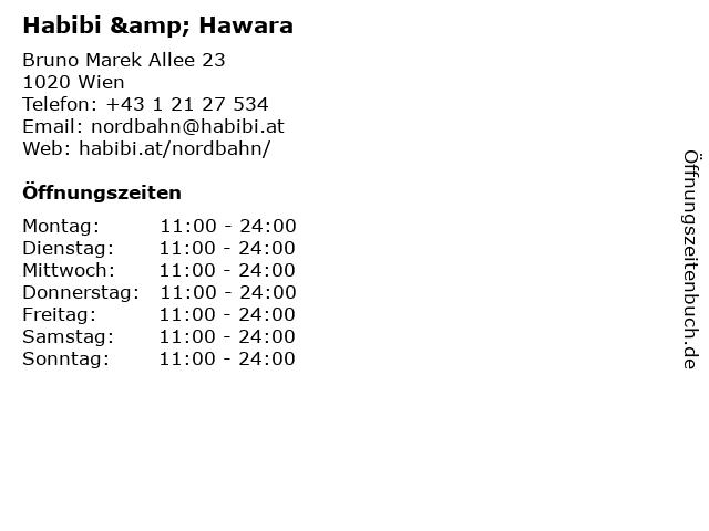 Habibi & Hawara in Wien: Adresse und Öffnungszeiten