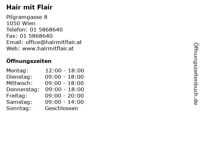 Hair mit Flair in Wien: Adresse und Öffnungszeiten