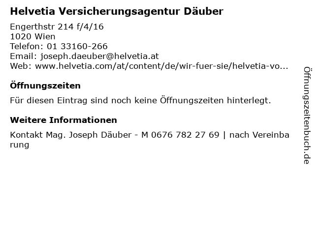 Helvetia Versicherungsagentur Däuber in Wien: Adresse und Öffnungszeiten