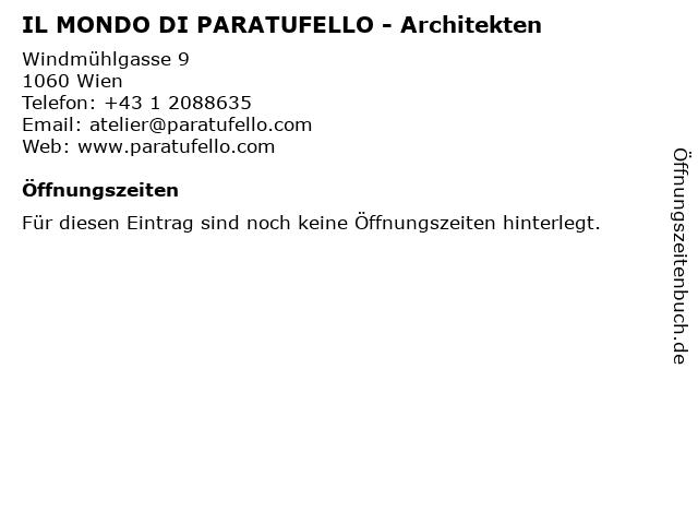 IL MONDO DI PARATUFELLO - Architekten in Wien: Adresse und Öffnungszeiten