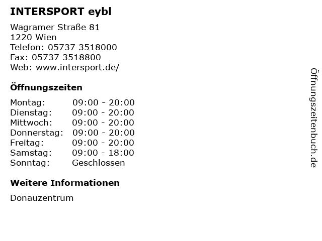INTERSPORT eybl in Wien: Adresse und Öffnungszeiten