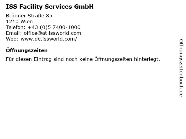 ISS Facility Services GmbH in Wien: Adresse und Öffnungszeiten