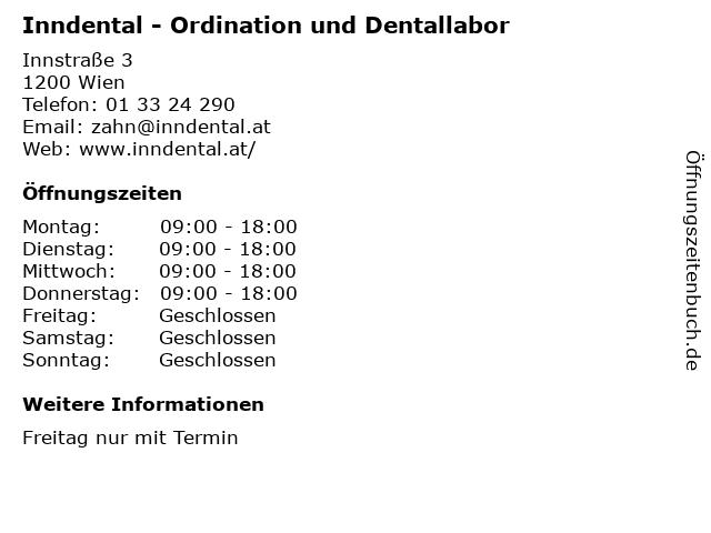 Inndental - Ordination und Dentallabor in Wien: Adresse und Öffnungszeiten