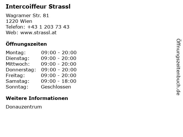 Intercoiffeur Strassl in Wien: Adresse und Öffnungszeiten