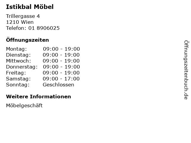 ᐅ öffnungszeiten Istikbal Möbel Trillergasse 4 In Wien