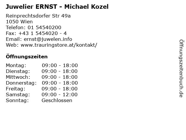 Juwelier ERNST - Michael Kozel in Wien: Adresse und Öffnungszeiten