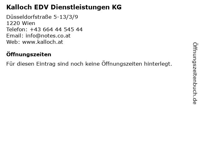 Kalloch EDV Dienstleistungen KG in Wien: Adresse und Öffnungszeiten