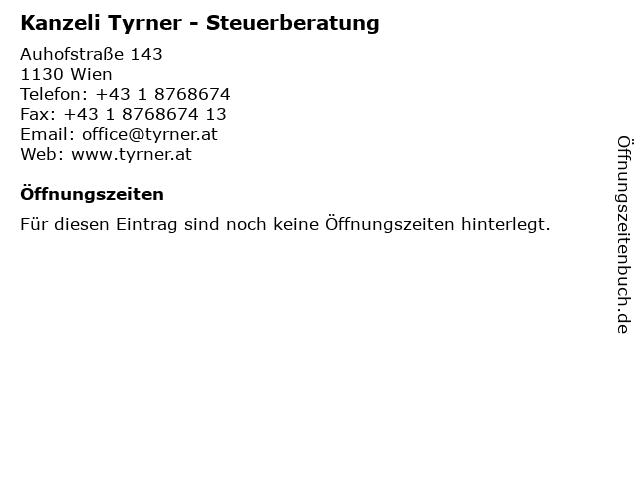 Kanzeli Tyrner - Steuerberatung in Wien: Adresse und Öffnungszeiten