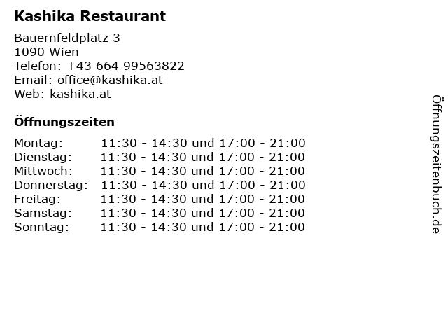 Kashika Restaurant in Wien: Adresse und Öffnungszeiten