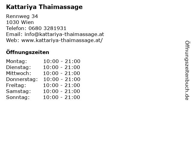 Kattariya Thaimassage in Wien: Adresse und Öffnungszeiten