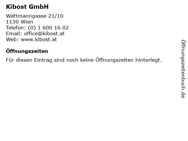 Kibost GmbH in Wien: Adresse und Öffnungszeiten