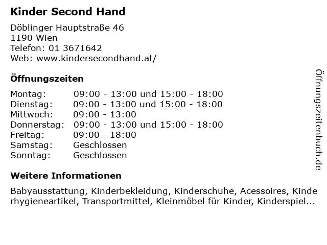 Kinder Second Hand in Wien: Adresse und Öffnungszeiten