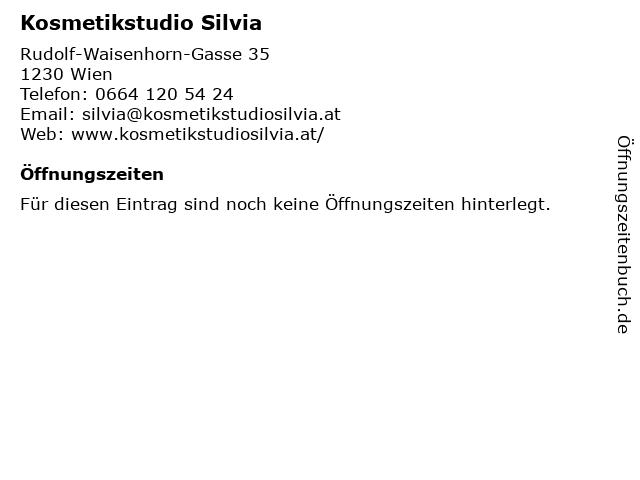 Kosmetikstudio Silvia in Wien: Adresse und Öffnungszeiten