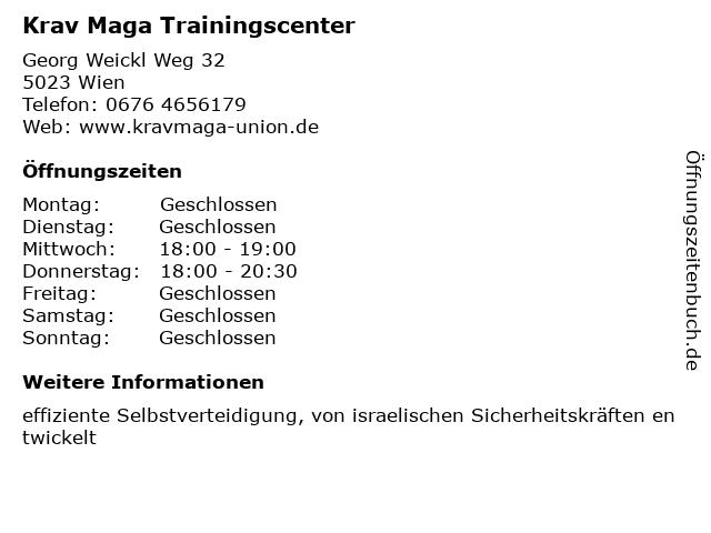 Krav Maga Trainingscenter in Wien: Adresse und Öffnungszeiten