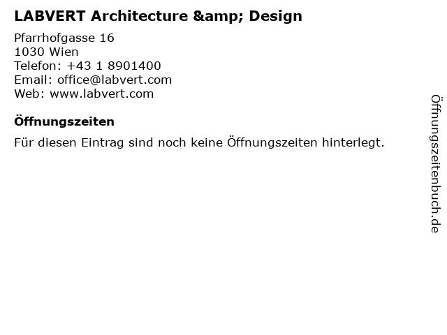 LABVERT Architecture & Design in Wien: Adresse und Öffnungszeiten