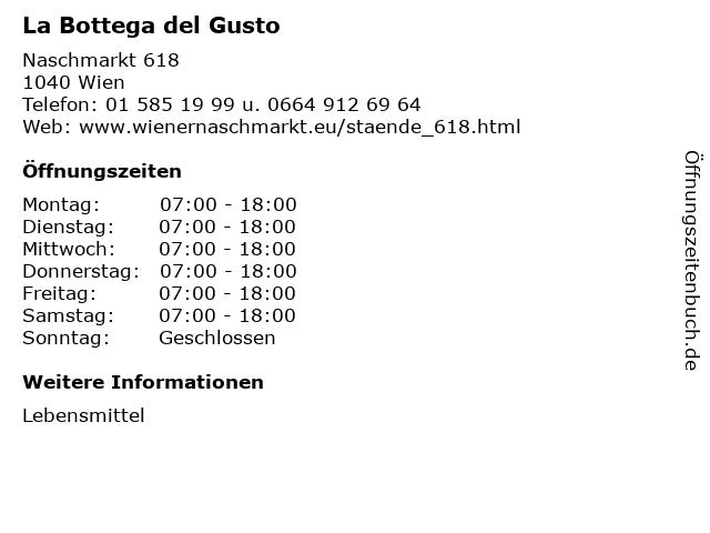 La Bottega del Gusto in Wien: Adresse und Öffnungszeiten