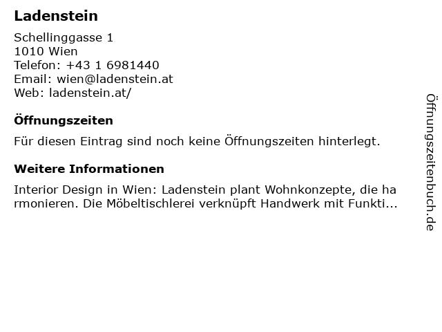 Ladenstein GmbH in Wien: Adresse und Öffnungszeiten