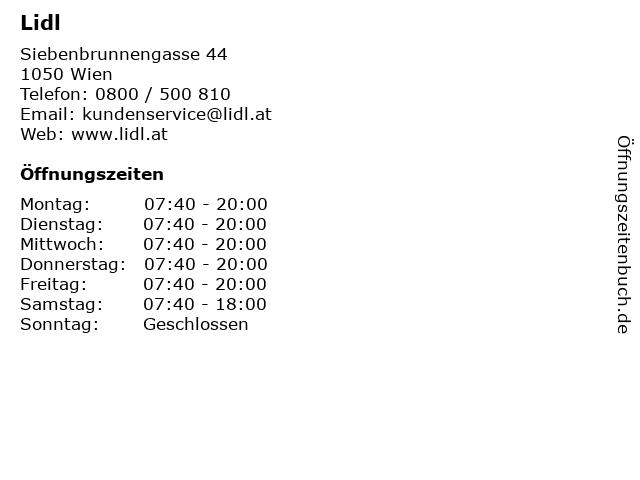 Lidl in Wien: Adresse und Öffnungszeiten