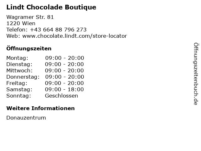 Lindt Chocolade Boutique in Wien: Adresse und Öffnungszeiten